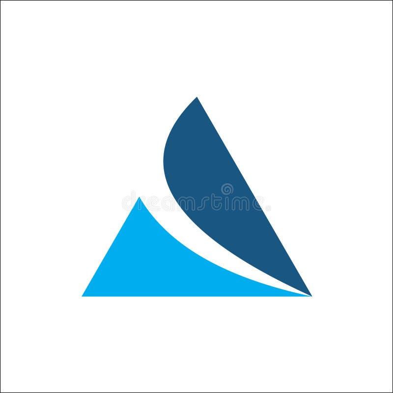 Molde do logotipo do vetor do triângulo, iniciais um logotipo ilustração stock