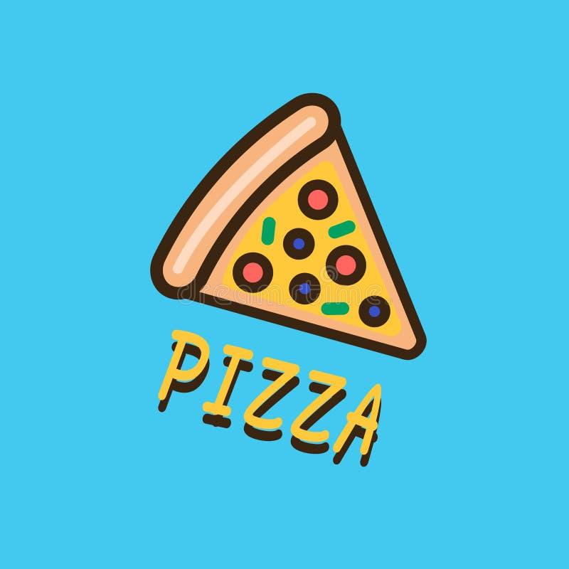 Molde do logotype da pizza ilustração stock