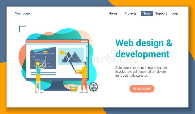 Molde do lp do desenvolvimento da Web ilustração royalty free