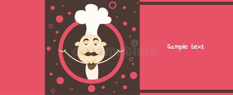 Molde do menu. ilustração royalty free