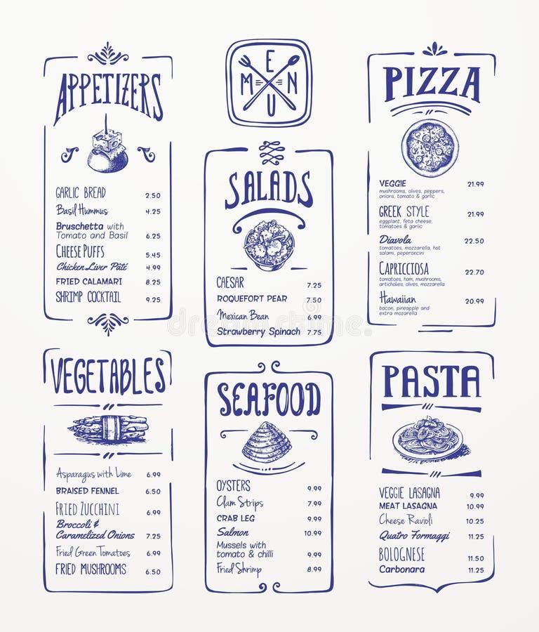 Molde do menu.