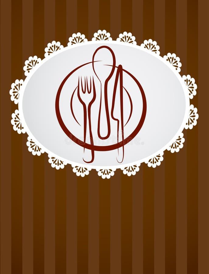 Molde do menu do restaurante ilustração royalty free