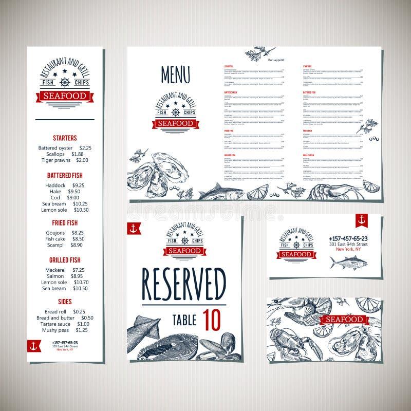 Molde do menu do restaurante ilustração do vetor