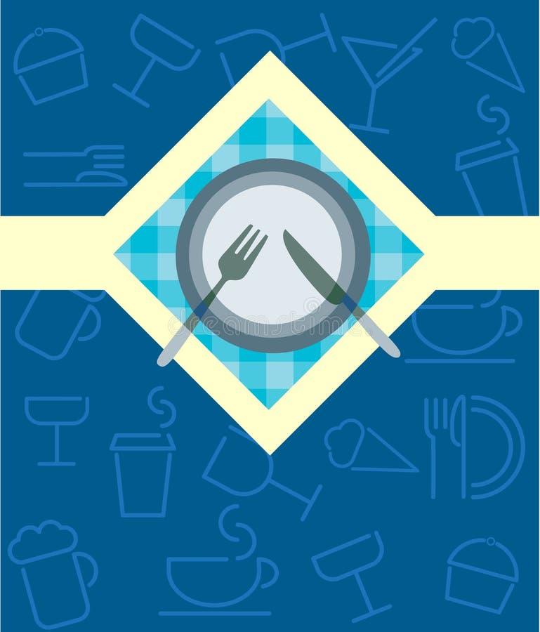 Molde do menu para a barra do restaurante ou de café ilustração royalty free