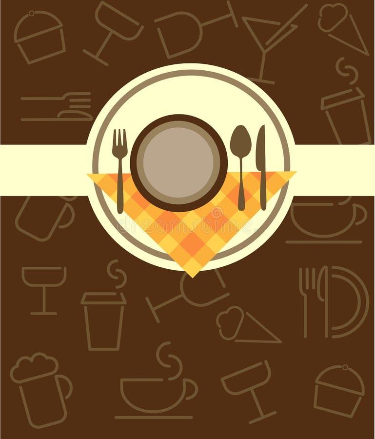 Molde do menu para a barra do restaurante ou de café ilustração do vetor