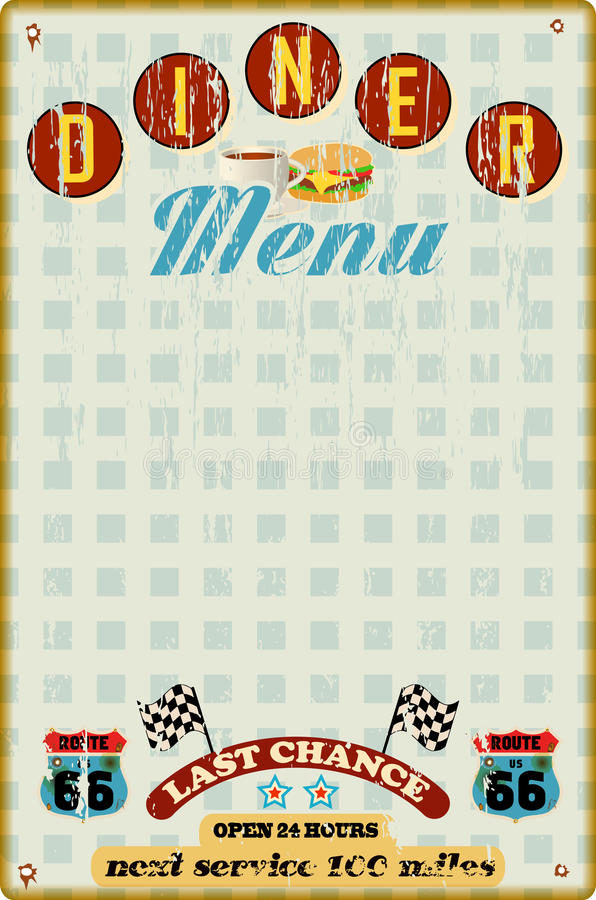 Molde do menu para o jantar ilustração do vetor