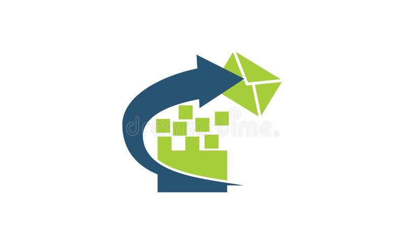 Molde do mercado do email ilustração stock