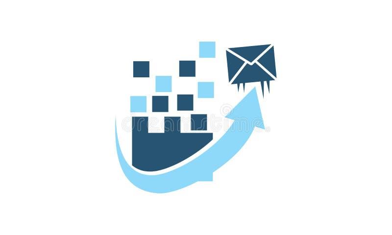 Molde do mercado do email ilustração do vetor
