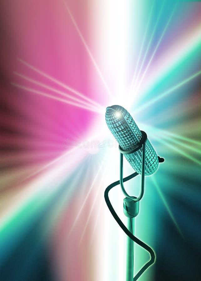 Molde do microfone do estilo antigo ilustração royalty free