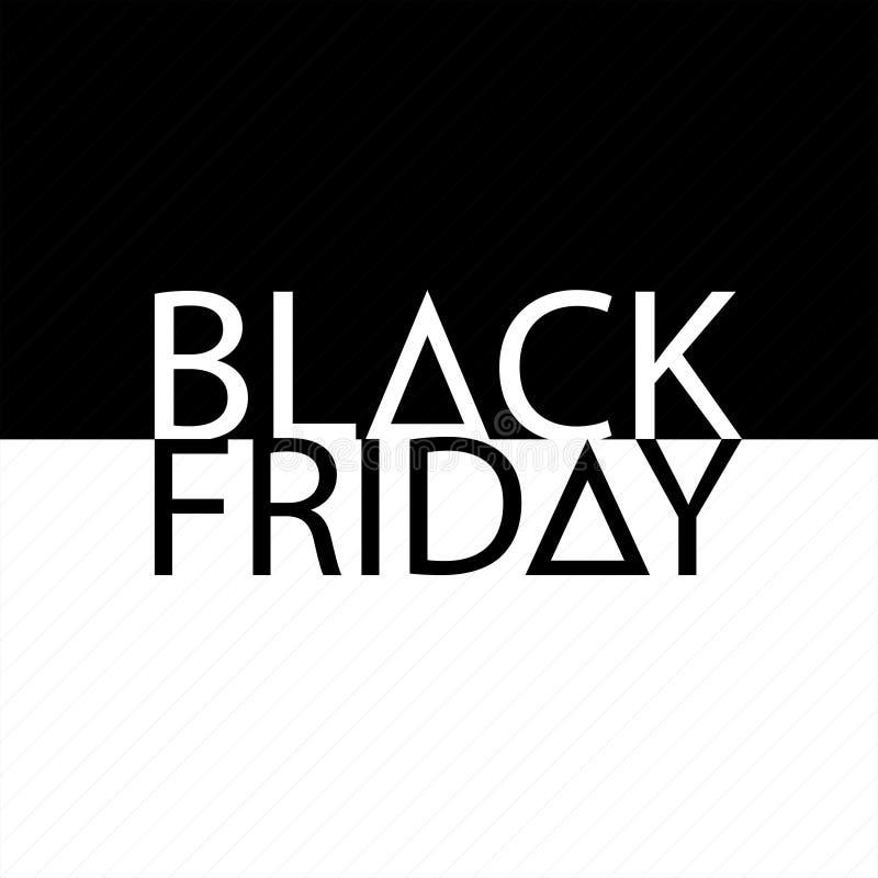Molde do monochrome do projeto da inscrição da venda de Black Friday Ilustração do vetor ilustração do vetor
