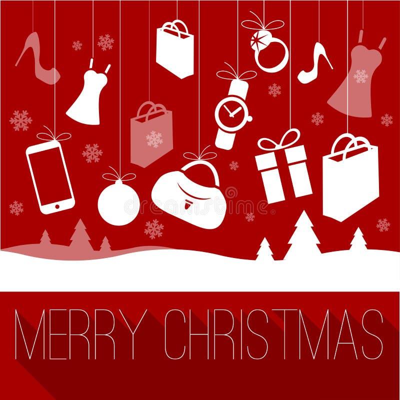 Molde do Natal e do ano novo ilustração do vetor