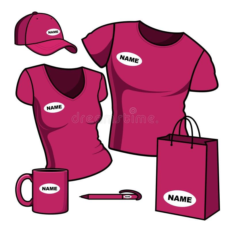 Molde do negócio. Homens e mulheres do t-shirt. ilustração do vetor