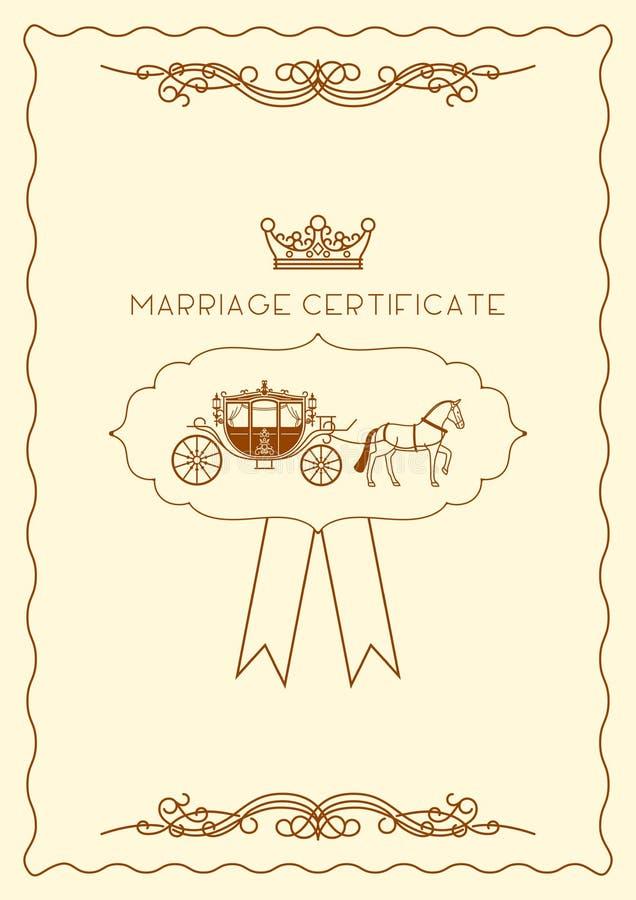 Molde do original do certificado de união ilustração royalty free