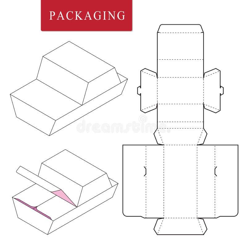 molde do pacote Zombaria varejo branca isolada acima ilustração stock