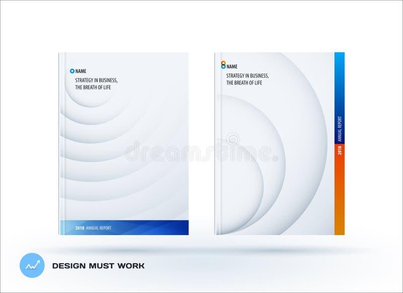 Molde do papel-corte do projeto do folheto Grupo criativo azul colorido do sumário, informe anual com sombras dos círculos para ilustração royalty free