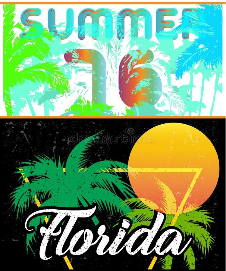 Molde do projeto do cartaz da navigação de Florida ilustração royalty free
