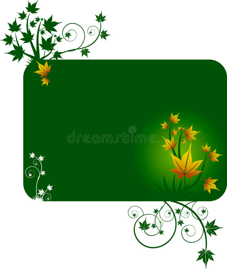 Molde do projeto com folhas amarelas ilustração stock