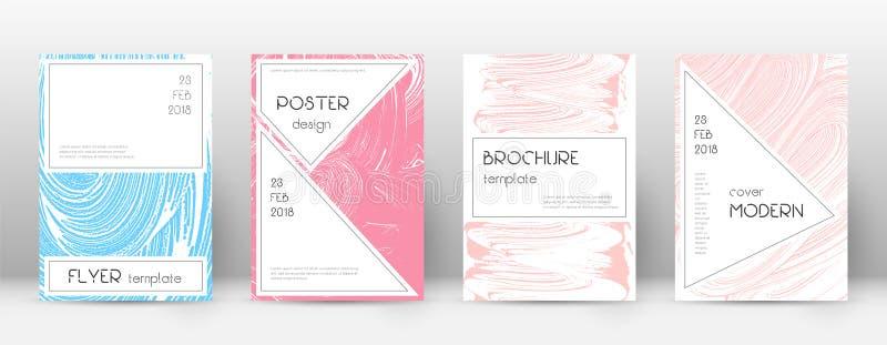 Molde do projeto da capa Disposição à moda do folheto Capa abstrata na moda encantador Rosa e b ilustração do vetor