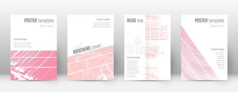 Molde do projeto da capa Disposição geométrica do folheto Capa abstrata na moda excitante Cor-de-rosa ilustração stock