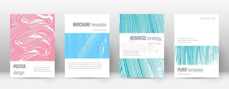 Molde do projeto da capa Folheto de Minimalistic ilustração stock