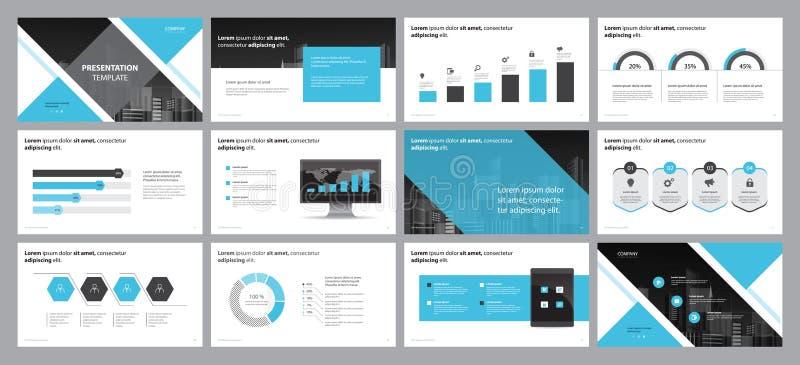 Molde do projeto da disposição de página para o projeto da apresentação do negócio e uso para o informe anual e o perfil da empre ilustração stock