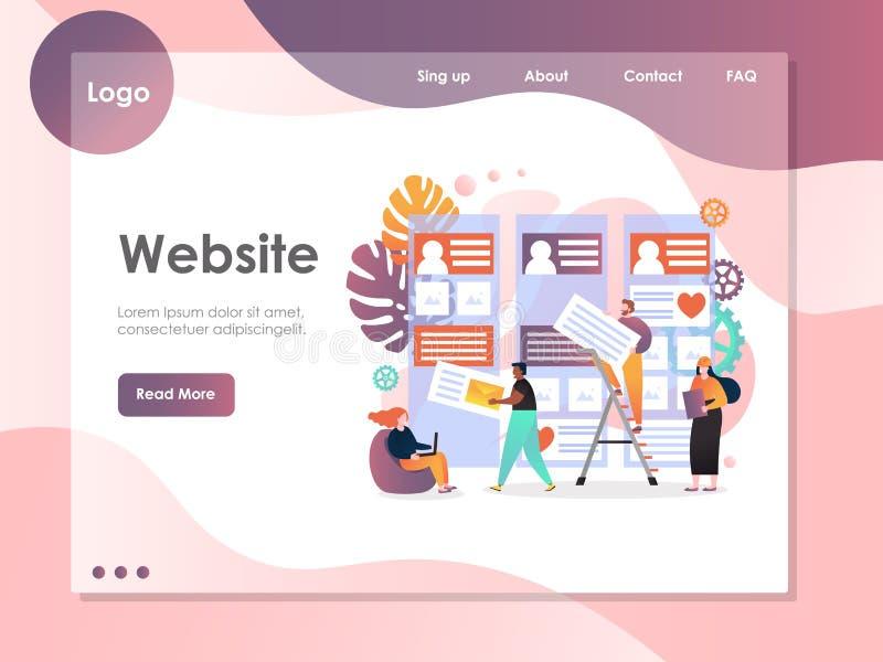 Molde do projeto da página da aterrissagem do Web site do vetor dos serviços de Web ilustração royalty free