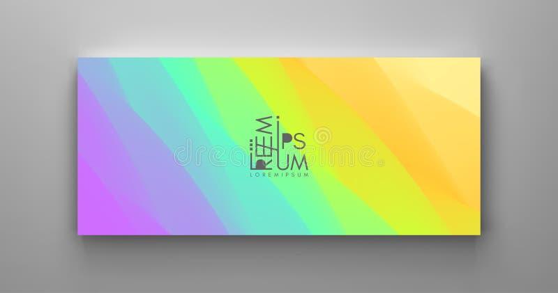Molde do projeto da tampa com inclinações da cor abstraia o fundo Teste padr?o moderno ilustração do vetor 3d para anunciar, merc ilustração do vetor