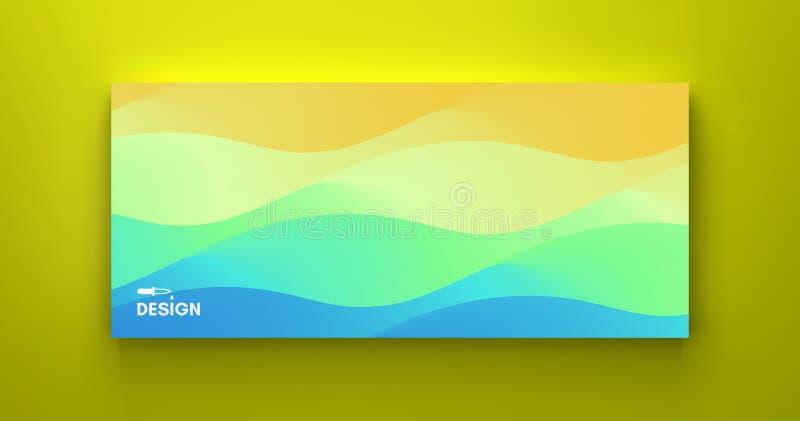 Molde do projeto da tampa com inclinações da cor abstraia o fundo Teste padr?o moderno ilustração do vetor 3d para anunciar, merc ilustração royalty free