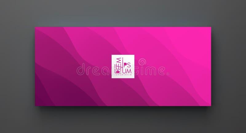 Molde do projeto da tampa com inclinações da cor abstraia o fundo Teste padr?o moderno ilustração do vetor 3d para anunciar, merc ilustração stock