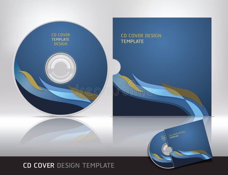 Molde do projeto da tampa do CD. ilustração royalty free