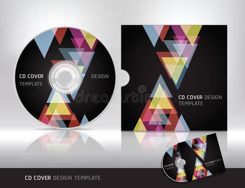 Molde do projeto da tampa do CD. ilustração do vetor