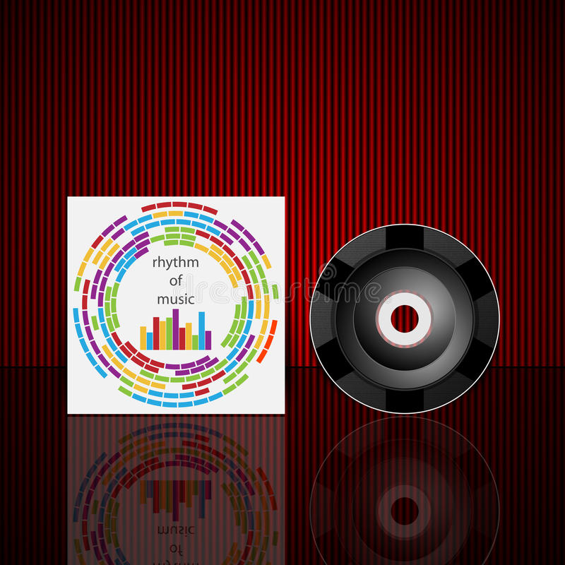 Molde do projeto da tampa do CD do vetor ilustração do vetor