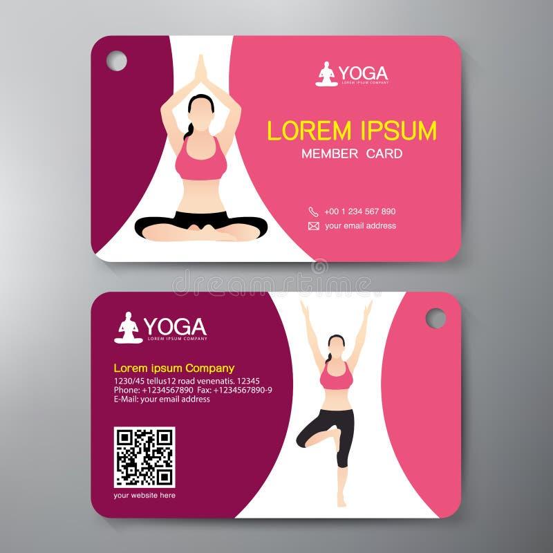 Molde do projeto de cartão da ioga e do esporte ilustração stock