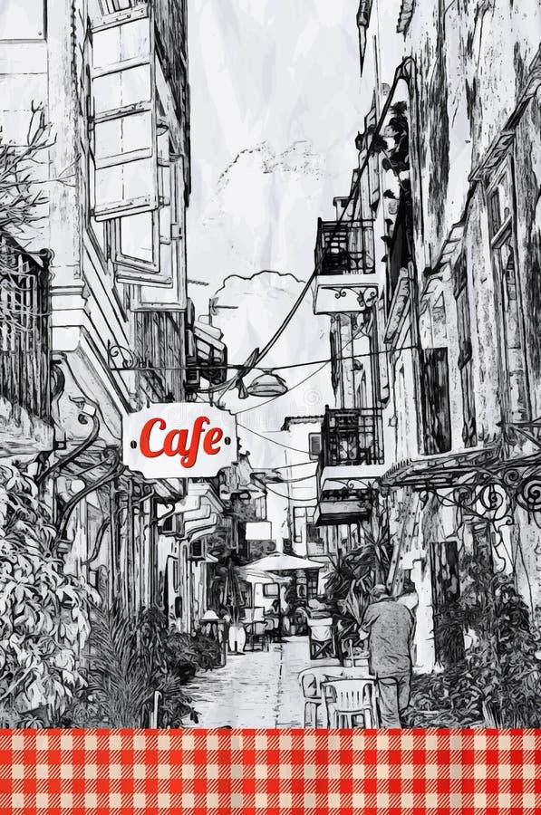 Molde do projeto de cartão do menu do restaurante ilustração royalty free