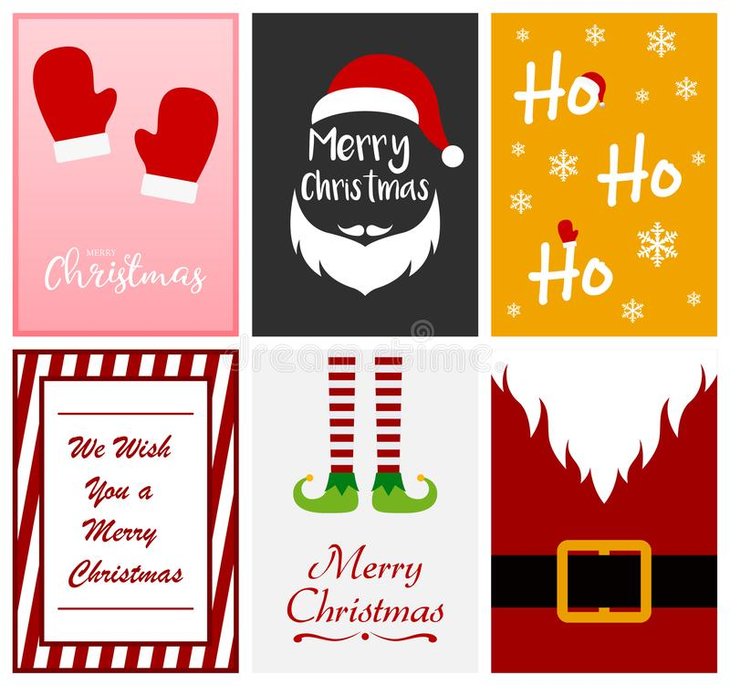 Molde do projeto de cart?o do Feliz Natal ilustração royalty free