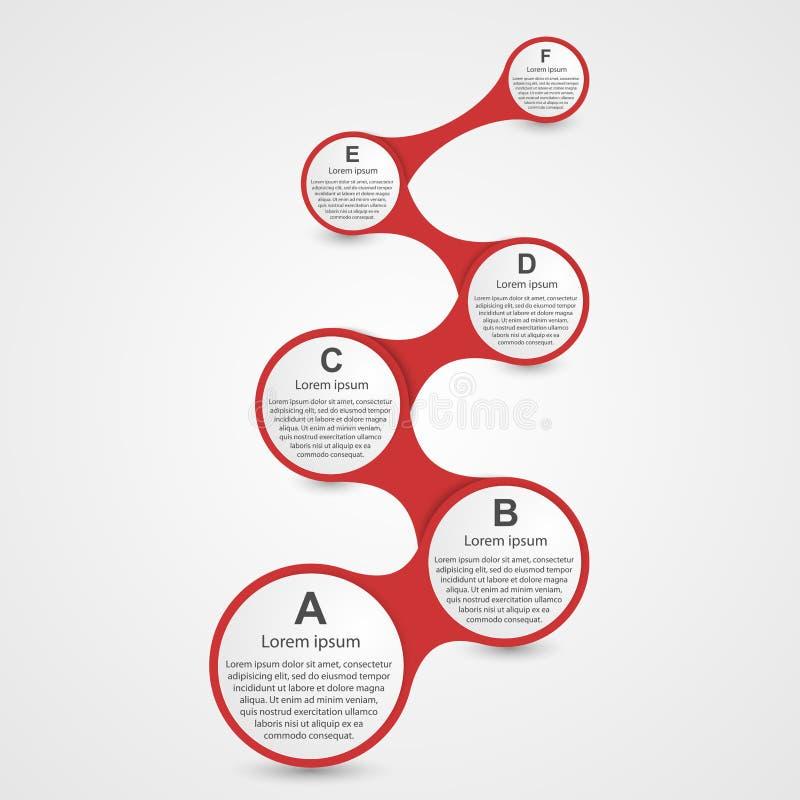 Molde do projeto de Infographic ilustração stock