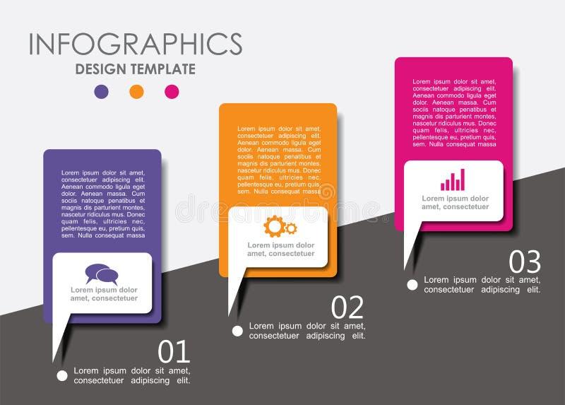 Molde do projeto de Infographic com lugar para seu texto Ilustração do vetor ilustração royalty free
