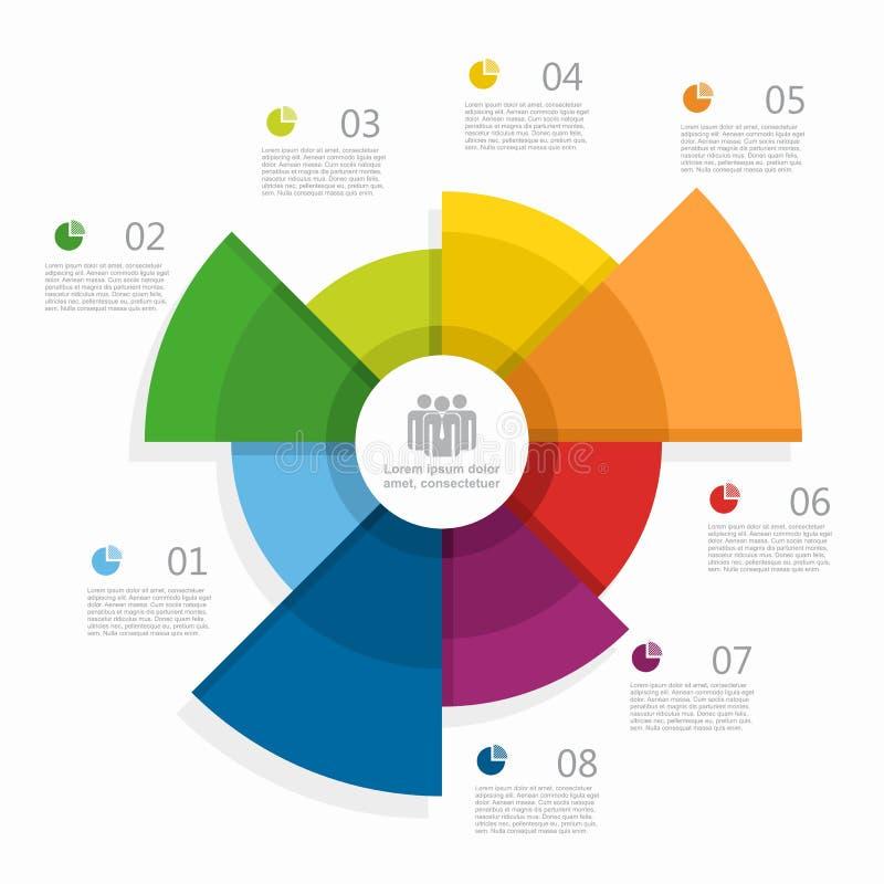 Molde do projeto de Infographic com lugar para seus dados Ilustração do vetor ilustração stock
