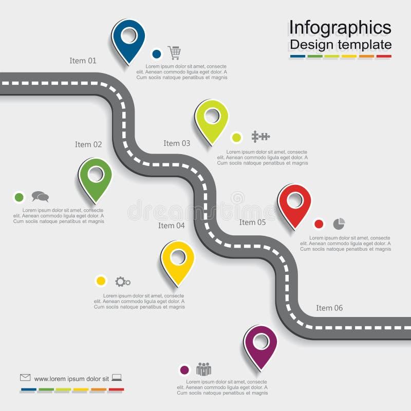 Molde do projeto de Infographic Ilustração do vetor ilustração do vetor