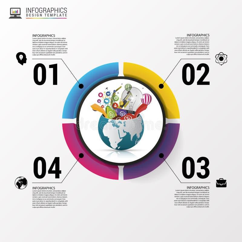 Molde do projeto de Infographic Mundo creativo Ilustração do vetor ilustração do vetor