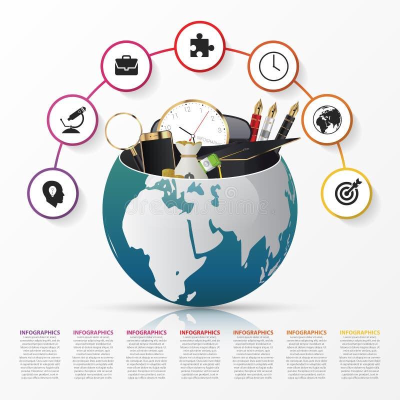 Molde do projeto de Infographic Mundo creativo Vetor ilustração do vetor