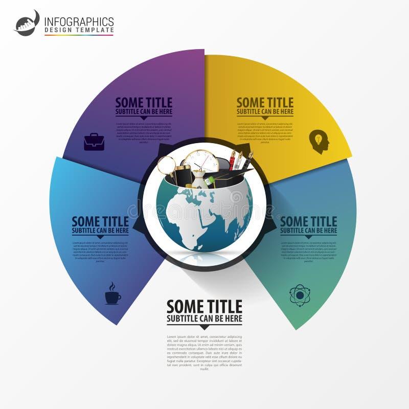 Molde do projeto de Infographic Mundo creativo Vetor ilustração royalty free