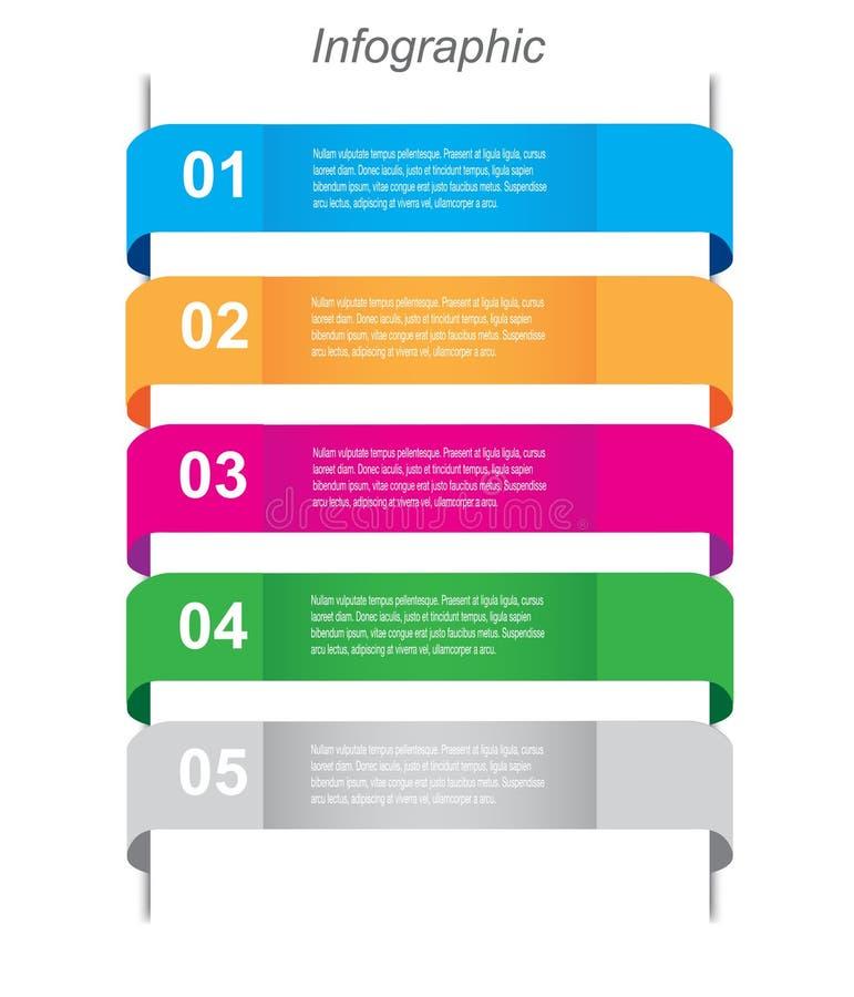 Molde do projeto de Infographics ilustração stock