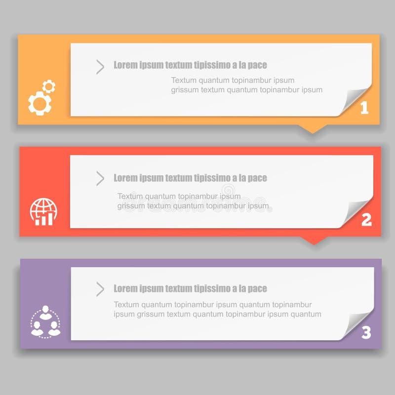 Molde do projeto de Infographics com numerado ilustração stock