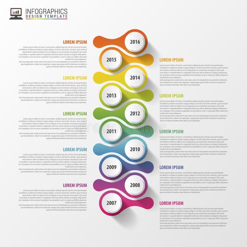 Molde do projeto de Infographics do espaço temporal Conceito do negócio Ilustração do vetor ilustração do vetor
