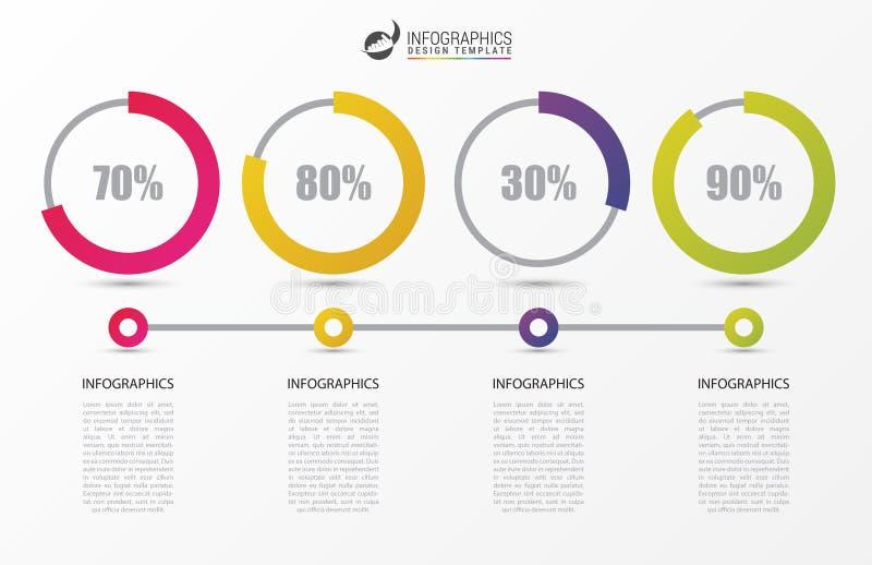 Molde do projeto de Inforgraphic Conceito do espaço temporal com por cento ilustração royalty free