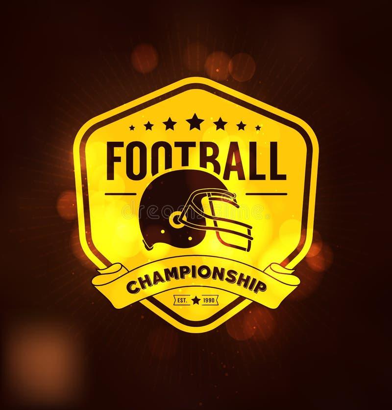 Molde do projeto de Logo Sport do campeonato do futebol ilustração stock
