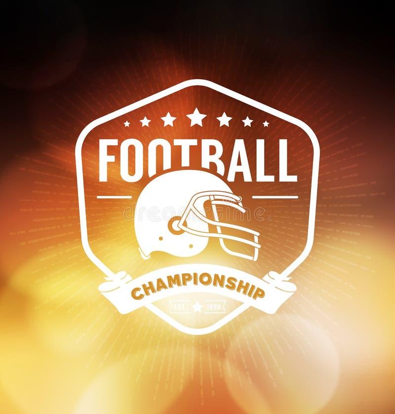 Molde do projeto de Logo Sport do campeonato do futebol ilustração royalty free