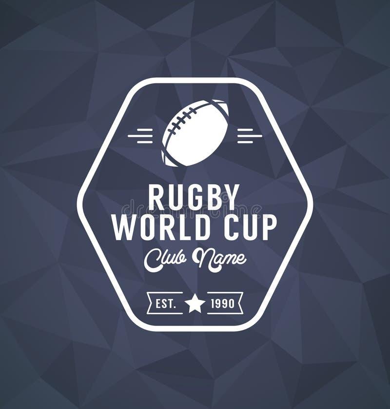 Molde do projeto de Logo Sport do campeonato do mundo do rugby ilustração do vetor