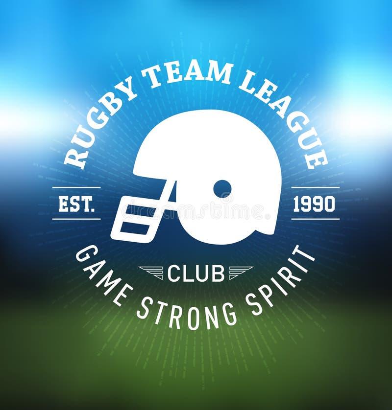 Molde do projeto de Team League Logo Sport do rugby ilustração royalty free
